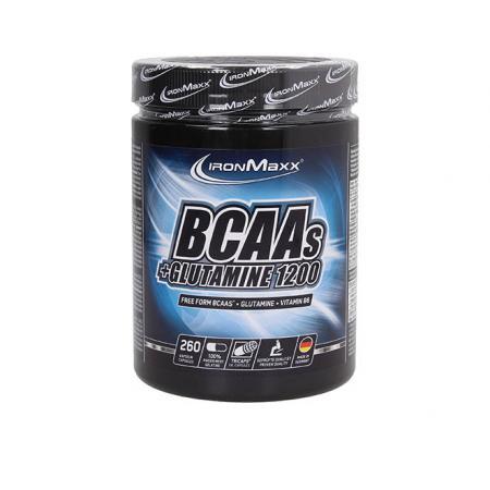 Ironmaxx BCAA+Glutamine 1200, 260 капсулы