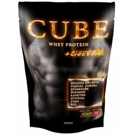 Power Pro CUBE Whey Protein + синефрин (банка), 1 кг