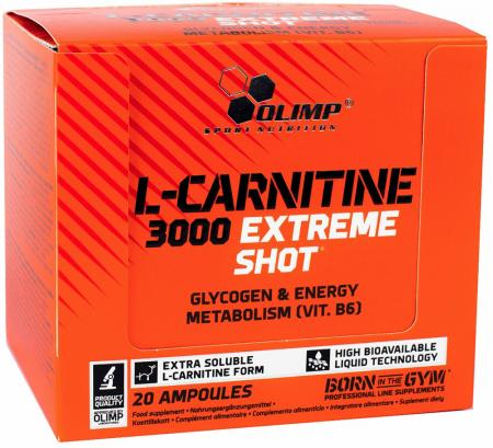 Olimp L-Carnitine 3000 Extreme Shot, 20 ампул/уп