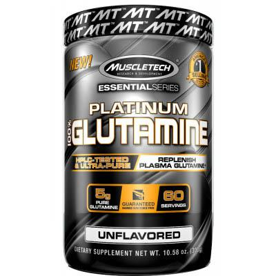 Muscletech Platinum 100% Glutamine, 300 грамм