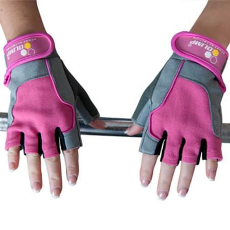 Перчатки женские Olimp Hardcore, Fitness One - розовые