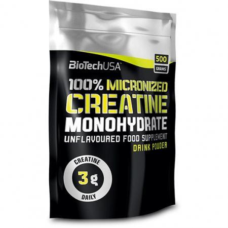 Biotech 100% Creatine Monohydrate, 500 грамм пакет