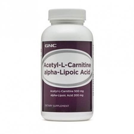 GNC Acetyl-L-Carnitine Alpha-Lipoic Acid, 60 каплет