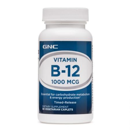 GNC Vitamin B-12 1000, 90 капсул