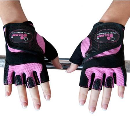 Перчатки женские Olimp Hardcore Fitness Star - розовые