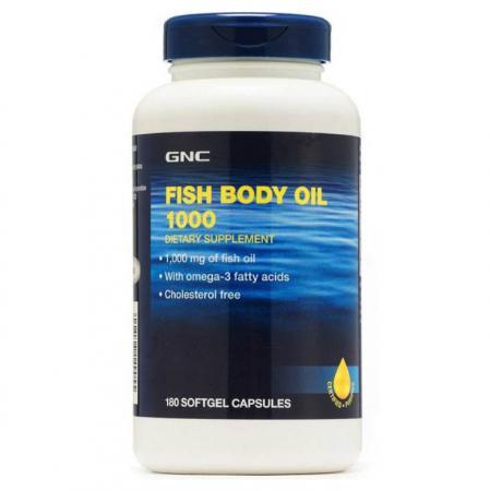 GNC Fish Body Oils 1000, 180 капсул