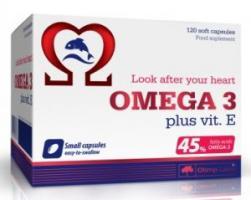 Olimp Omega 3 45% + vit E, 120 капсул