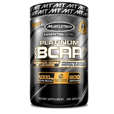 Muscletech Platinum BCAA 8:1:1, 200 каплет
