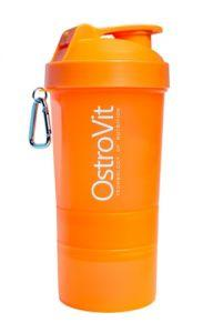 Шейкер OstroVit Smart Shaker, 400 мл + 2 контейнера - оранжевый