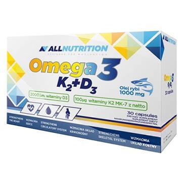 AllNutrition Omega 3+D3+K2, 30 капсул