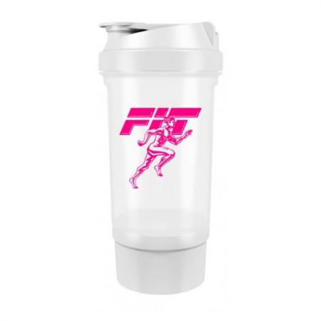 Fit MY Drink+контейнер, 500 мл - бело-розовый