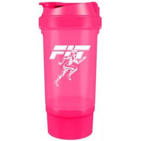 Fit MY Drink+контейнер, 500 мл - розовый неон