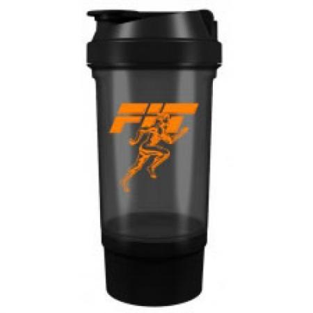 Fit MY Drink+контейнер, 500 мл - черно-оранжевый
