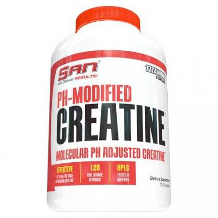 SAN PH Modified Creatine, 120 капсул