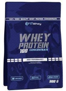 Fit Whey Whey Protein 100 Concentrate, 900 грамм