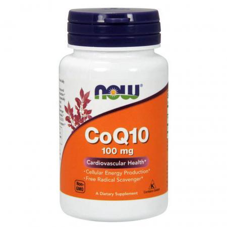 NOW CoQ-10 100 мг, 30 вегакапсул