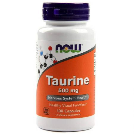NOW Taurine 500 мг, 100 капсул
