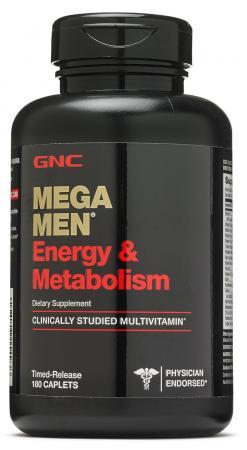 GNC Mega Men Energy and Metabolism, 180 каплет